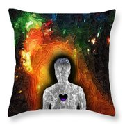 Shielded From God Throw Pillow