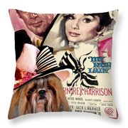 Shih Tzu Art - My Fair Lady Movie Poster Throw Pillow