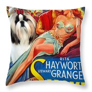 Shih Tzu Art - Salome Movie Poster Throw Pillow