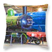 Shildon Railway Museum In England Throw Pillow