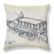 Shillibeers Omnibus Throw Pillow