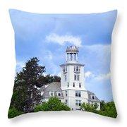 Shiloh Chapel Durham Maine Throw Pillow