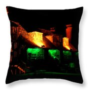 Shimla At Night Throw Pillow