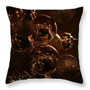 Shimmer In Gold Throw Pillow