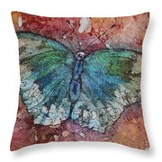 Shimmer Wings Throw Pillow