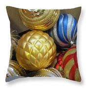 Shimmering Bauble Throw Pillow
