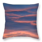 Shimmering Clouds Throw Pillow