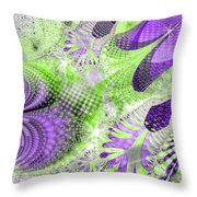 Shimmering Joy Abstract Digital Art Throw Pillow