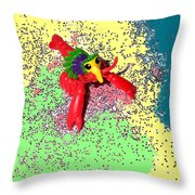 Shimmering Lobster Throw Pillow