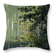 Shimmering Pine Throw Pillow