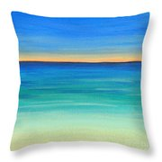 Shimmering Sea Throw Pillow