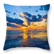 Shimmering Sundown Throw Pillow