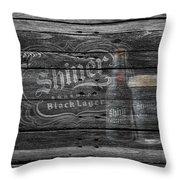 Shiner Black Lager Throw Pillow