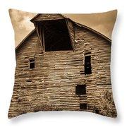 Shingle Barn Sepia 1 Throw Pillow