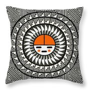 Shining Sun Throw Pillow by Sergey Khreschatov