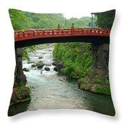Shinkyo In Nikko Throw Pillow