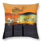 Shiny Refinery #3 2am-27808 Throw Pillow