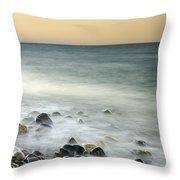 Shiny Rocks At The Sea Throw Pillow