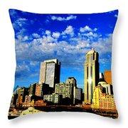 Shiny Seattle Throw Pillow