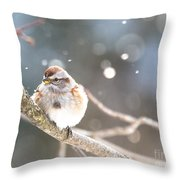 Shiny Tree Sparrow Throw Pillow