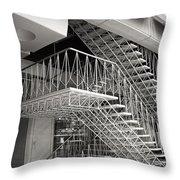 Shiodome Tokyo Stairs Throw Pillow