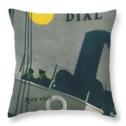 Ship At Night Throw Pillow by Edward Hopper
