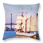 Ship Coming In Throw Pillow