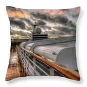 Ship Deck Throw Pillow