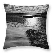 Ship Harbor Winter Throw Pillow