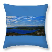 Ship Harbour From Sugarloaf Hill Throw Pillow