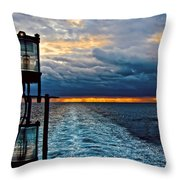 Ship Lamps Throw Pillow
