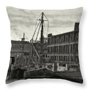 Ship Mooring Vintage Throw Pillow