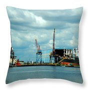 Ship Repair Throw Pillow