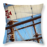 Ship Rigging Throw Pillow by Carlos Caetano