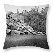 Ship Rock Island Throw Pillow
