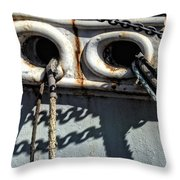 Ship Ropes Chains Throw Pillow