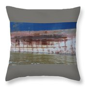 Ship Rust 4 Throw Pillow