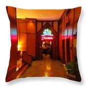 Ship Tavern Throw Pillow