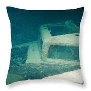 Ship Wreck With Trucks Throw Pillow