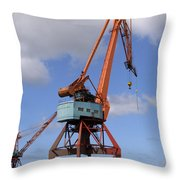 Shipping Industry Crane 06 Throw Pillow
