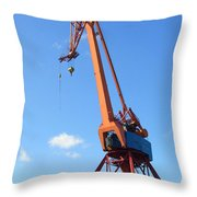 Shipping Industry Crane Throw Pillow