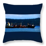 Shipping Lane Throw Pillow