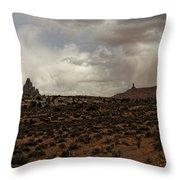 Shiprock 3 Throw Pillow