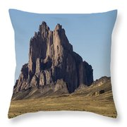 Shiprock Panorama - North West New Mexico Throw Pillow
