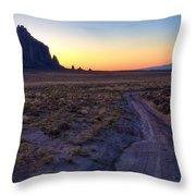 Shiprock Sunset Throw Pillow