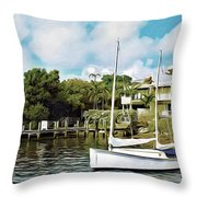 Ships Ahoy Throw Pillow