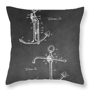 Ship's Anchor Patent Throw Pillow