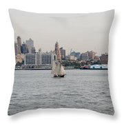 Ships And Boats Throw Pillow