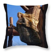 Ship's Figurehead Throw Pillow