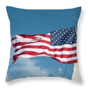 Ship's Flag Throw Pillow